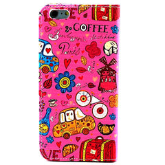 Cartoon Stand Leather Case for iPhone 6 - BoardwalkBuy - 2