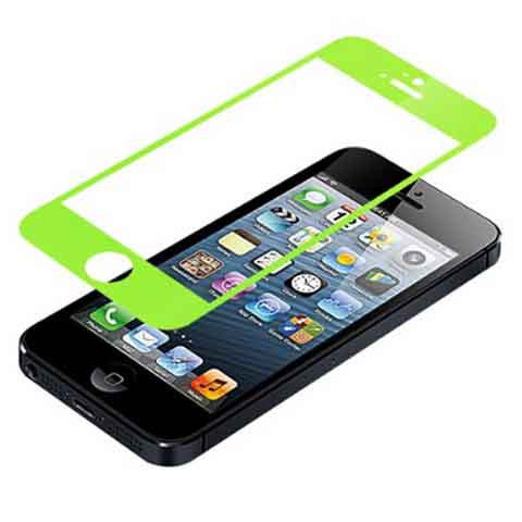 iPhone 5 Premium Shock Proof Tempered Glass Screen Protector Cover green - BoardwalkBuy - 1