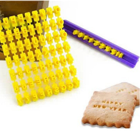 Alphabet Number Cookies Embosser Mold - BoardwalkBuy - 1