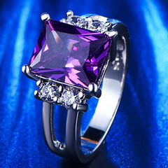 Amethyst CZ Diamond Ring - BoardwalkBuy - 3
