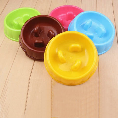 Anti-Choke Plastic Cat Bowl