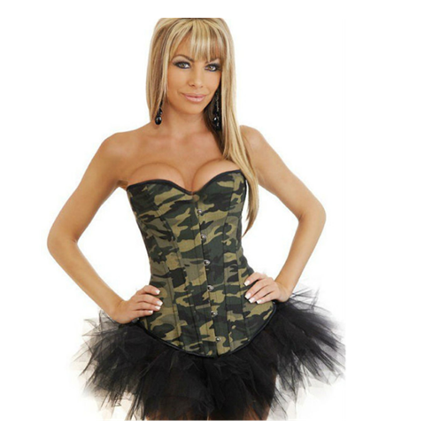 Army Green Buttons Waist Trainer