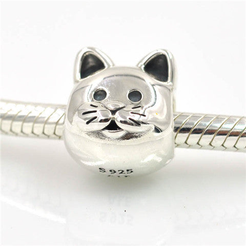 Pet Cat Charms Bead Fits Pandora Charms Bracelet