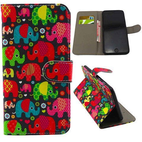 Elephant Wallet Leather Case for iPhone 6