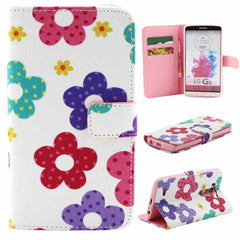 Flower Leather Wallet Case for LG G3 - BoardwalkBuy - 1