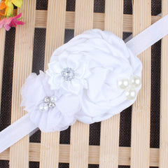 Baby Pearl Flower Elastic Headband - BoardwalkBuy - 5