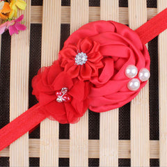 Baby Pearl Flower Elastic Headband - BoardwalkBuy - 2