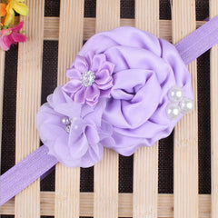 Baby Pearl Flower Elastic Headband - BoardwalkBuy - 7