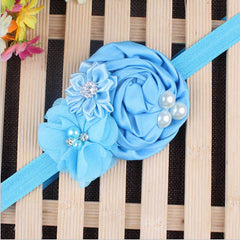 Baby Pearl Flower Elastic Headband - BoardwalkBuy - 4
