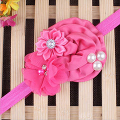 Baby Pearl Flower Elastic Headband - BoardwalkBuy - 8