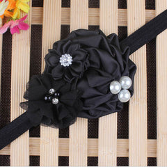 Baby Pearl Flower Elastic Headband - BoardwalkBuy - 6