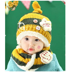 Baseball Art Children's Ear Hat + Scarf Two-piece - BoardwalkBuy - 7