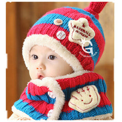 Baseball Art Children's Ear Hat + Scarf Two-piece - BoardwalkBuy - 3