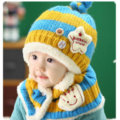 Baseball Art Children's Ear Hat + Scarf Two-piece - BoardwalkBuy - 2
