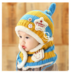 Baseball Art Children's Ear Hat + Scarf Two-piece - BoardwalkBuy - 5