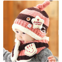 Baseball Art Children's Ear Hat + Scarf Two-piece - BoardwalkBuy - 6