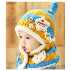 Baseball Art Children's Ear Hat + Scarf Two-piece - BoardwalkBuy - 8