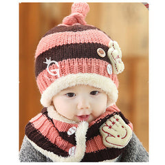 Baseball Art Children's Ear Hat + Scarf Two-piece - BoardwalkBuy - 9