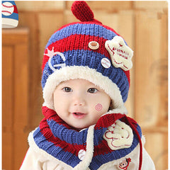 Baseball Art Children's Ear Hat + Scarf Two-piece - BoardwalkBuy - 4