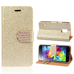 Bling Leather Stand Case for Samsung S5 - BoardwalkBuy - 2