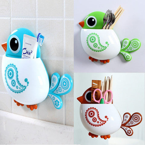 Bird Pattern Tooth Brush Holder