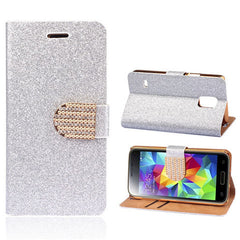 Bling Leather Stand Case for Samsung S5 - BoardwalkBuy - 3
