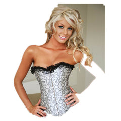 Black lacy Grey Waist Trainer - BoardwalkBuy - 3