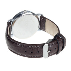 Brown Faux Leather Band Men Watch - BoardwalkBuy - 2
