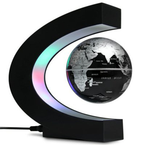 C Shape Magnetic Levitation Globe with LED Light Decoration for Home Office - BoardwalkBuy - 1