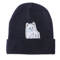 Cartoon Cat Wool Knitted Hat - BoardwalkBuy - 3