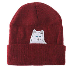 Cartoon Cat Wool Knitted Hat - BoardwalkBuy - 2