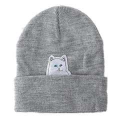 Cartoon Cat Wool Knitted Hat - BoardwalkBuy - 1
