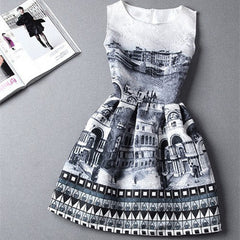 Castle Print Dress - BoardwalkBuy - 2
