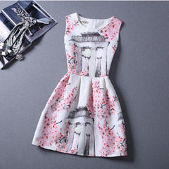 Castle Print Dress - BoardwalkBuy - 3