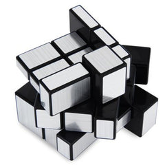 Challenging 3 x 3 x 3 Brushed Silver Cube Toy - BoardwalkBuy - 3
