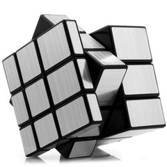 Challenging 3 x 3 x 3 Brushed Silver Cube Toy - BoardwalkBuy - 4
