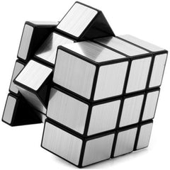 Challenging 3 x 3 x 3 Brushed Silver Cube Toy - BoardwalkBuy - 1