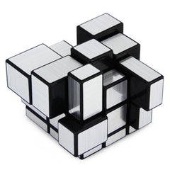 Challenging 3 x 3 x 3 Brushed Silver Cube Toy - BoardwalkBuy - 5
