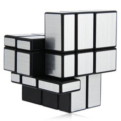 Challenging 3 x 3 x 3 Brushed Silver Cube Toy - BoardwalkBuy - 2