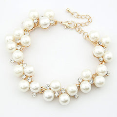 Charm Crystal Diamond Pearl Beads Bracelet - BoardwalkBuy - 1