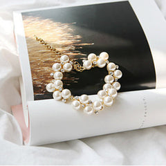 Charm Crystal Diamond Pearl Beads Bracelet - BoardwalkBuy - 2