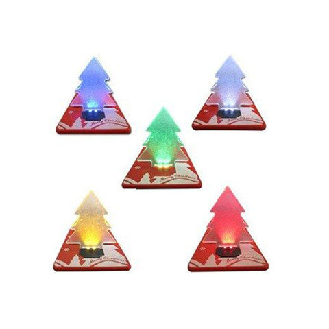 Folding  Christmas Tree Shape Card LED Light