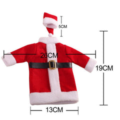 Christmas Santa Clause Clothing Hat Dress Wine Bottle Cover - BoardwalkBuy - 6