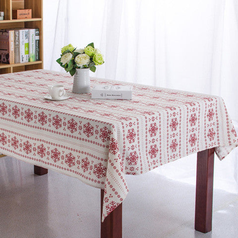 Christmas Snowflake Tablecloth
