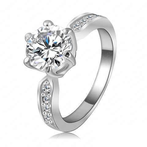Clear Crystal Women Fashion Jewellery Ring