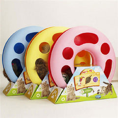 Pet Kettle Cat Toy Spring Mice  Training Amusement Disk Color Random