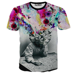 Creative Printed 3D Men's Short Sleeve T Shirt - BoardwalkBuy - 6
