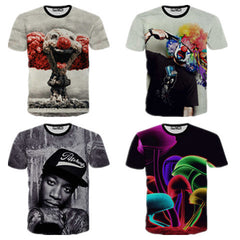 Creative Printed 3D Men's Short Sleeve T Shirt - BoardwalkBuy - 1