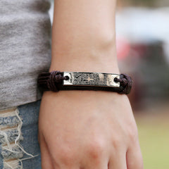 Cross Bible Leather Bracelet - BoardwalkBuy - 3