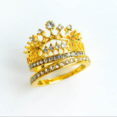 Crystal Rhinestone Crown Ring - BoardwalkBuy - 4